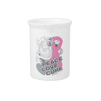 Curación del amor de la paz del cáncer de pecho jarras