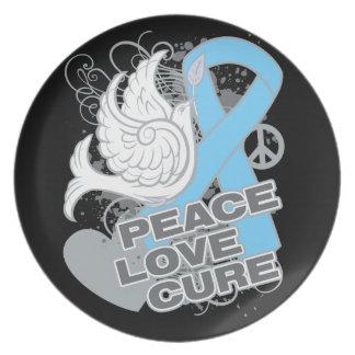 Curación del amor de la paz del cáncer de próstata plato