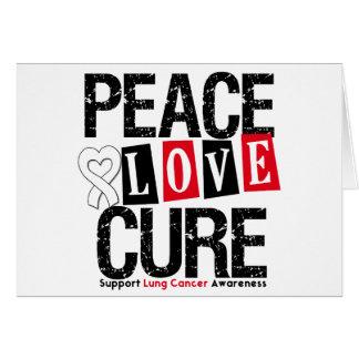 Curación del amor de la paz del cáncer de pulmón tarjeta