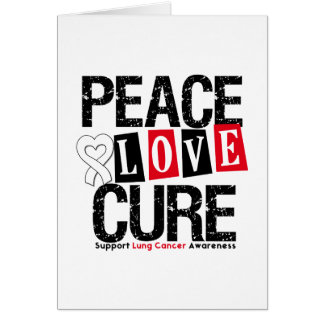 Curación del amor de la paz del cáncer de pulmón tarjeton