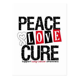 Curación del amor de la paz del cáncer de pulmón postales