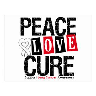 Curación del amor de la paz del cáncer de pulmón postal