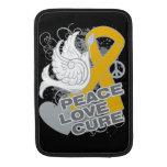 Curación del amor de la paz del cáncer del apéndic fundas para macbook air