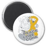 Curación del amor de la paz del cáncer del apéndic imán de frigorifico