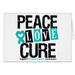 Curación del amor de la paz del cáncer ovárico felicitación