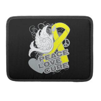 Curación del amor de la paz del osteosarcoma funda macbook pro