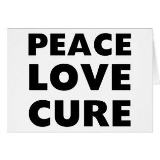 Curación del amor de la paz tarjeta de felicitación
