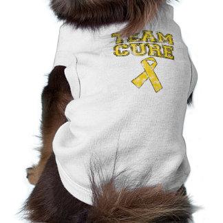Curación del equipo (amarillo) camisetas de perrito