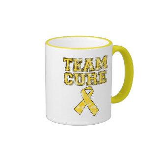 Curación del equipo (amarillo) taza de café