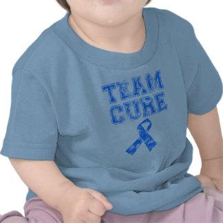 Curación del equipo (azul) camisetas