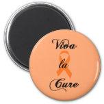 Curación del la de Viva - cinta anaranjada Imán Para Frigorifico