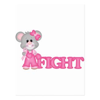 Curación del ratón de Think Pink Postales