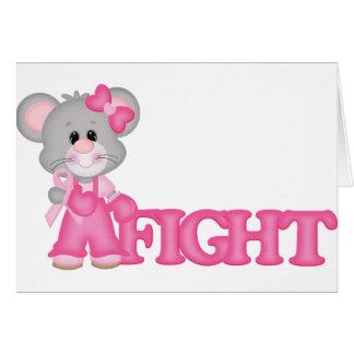 Curación del ratón de Think Pink Tarjeta De Felicitación