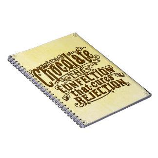 Curación divertida del rechazo del escritor del cuaderno