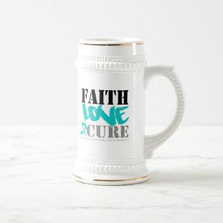 Curación intersticial del amor de la fe de la cist tazas de café