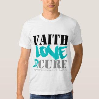 Curación intersticial del amor de la fe de la remera