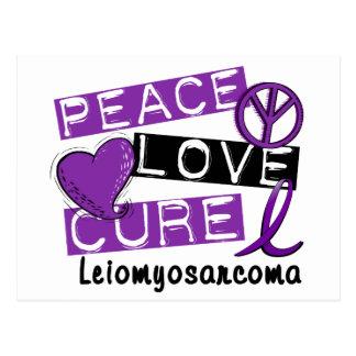 Curación Leiomyosarcoma del amor de la paz Postal