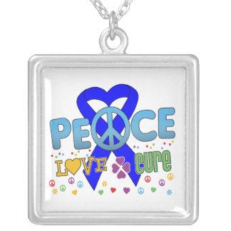 Curación maravillosa del amor de la paz del cáncer colgante cuadrado