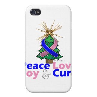 Curación masculina de la alegría del amor de la pa iPhone 4 funda