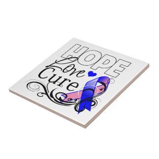 Curación masculina del amor de la esperanza del cá azulejo cuadrado pequeño