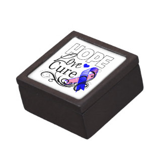 Curación masculina del amor de la esperanza del cá cajas de recuerdo de calidad