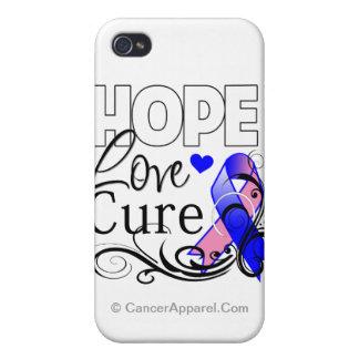 Curación masculina del amor de la esperanza del cá iPhone 4/4S carcasa