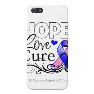 Curación masculina del amor de la esperanza del cá iPhone 5 carcasas