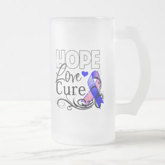 Curación masculina del amor de la esperanza del cá taza cristal mate