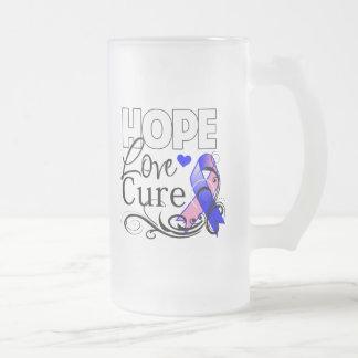 Curación masculina del amor de la esperanza del taza de cristal