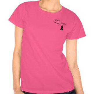 Curación N que vive la camiseta de las mujeres de
