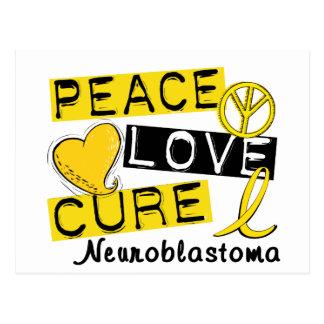 Curación Neuroblastoma del amor de la paz Postal