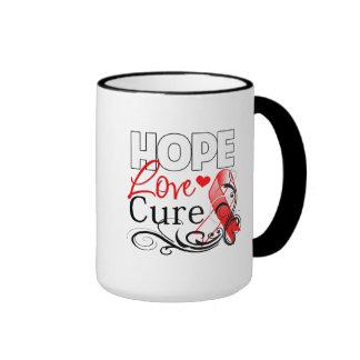 Curación oral del amor de la esperanza del cáncer tazas de café