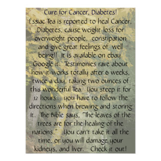 Curación para la impresión del cáncer y de la diab impresiones