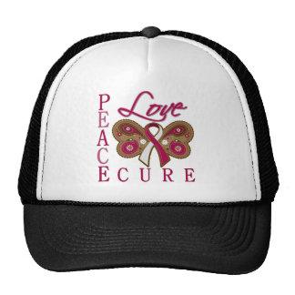 Curación principal del amor de la paz de la maripo gorras de camionero