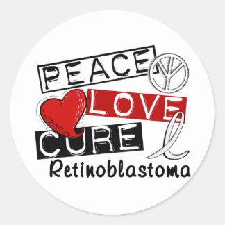 Curación Retinoblastoma del amor de la paz Pegatina Redonda