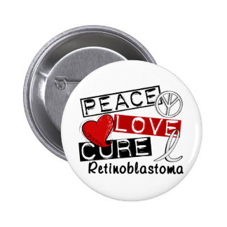 Curación Retinoblastoma del amor de la paz Pin Redondo 5 Cm