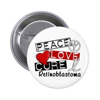 Curación Retinoblastoma del amor de la paz Pin Redondo De 2 Pulgadas
