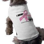 Curación rosada del cáncer de pecho de la cinta ropa de perros