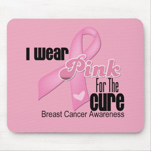 Curación rosada del cáncer de pecho de la cinta tapetes de ratón