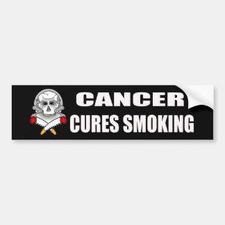 Curaciones del cáncer que fuman a la pegatina para pegatina de parachoque