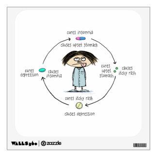 Curaciones y causas - el círculo de la medicación vinilo adhesivo