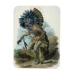 Curandero de la tribu de Mandan en el traje de Imanes Rectangulares