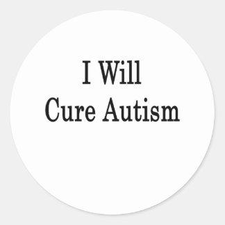 Curaré autismo pegatina redonda