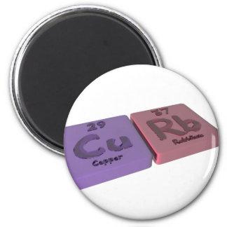 Curb as Cu Copper and Rb Rubidium Fridge Magnets