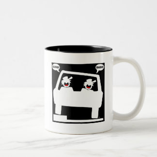 CURB SHOT DUDE! Two-Tone COFFEE MUG