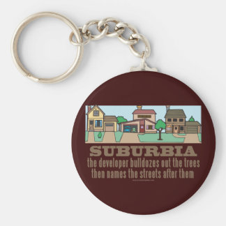 Curb Suburbia Tree Lover Basic Round Button Keychain
