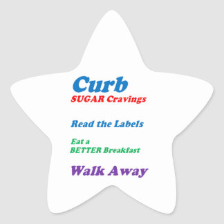 CURB SUGAR CRAVINGS: by NAVIN Joshi  LOWPRICES Star Sticker
