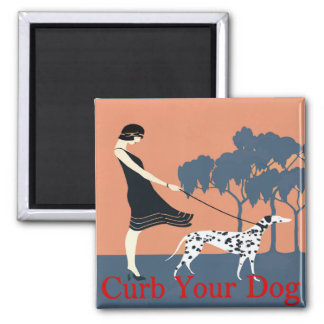 Curb Your Dog add text Refrigerator Magnets