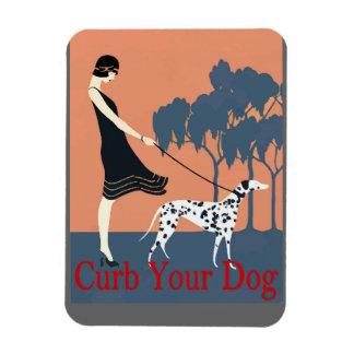 Curb Your Dog add text Rectangular Magnet