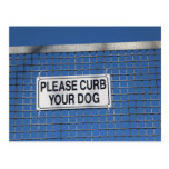 Curb your dog... postcards